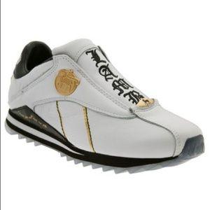 L.A.M.B. Shoes - LAMB vintage white sneakers black/white/gold